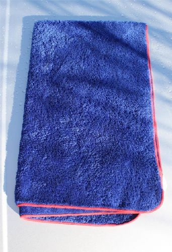 PYC Fluffy Blue Drying Towels Pack of 3
